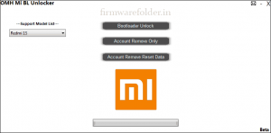 How to remove Mi account using OMH Mi boot unlocker tool