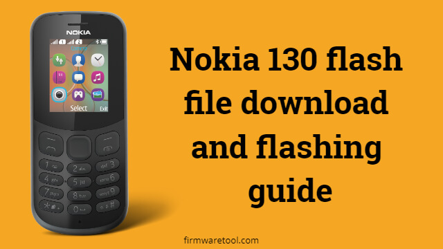 Nokia 130 flash file download